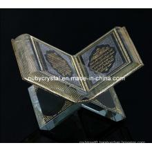 Crystal Koran Islamic Religious Souvenir Gift for Decoration