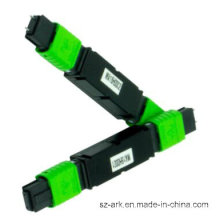 Faseroptischer Abschwächer MTP (MPO) mit grüner Jacke 3dB