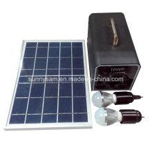 Портативная система 10W Солнечная Домашняя питания для кемпинга домашнего использования