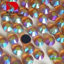 Hotfix dos plat cristal Ab pierre pour robe de mariée et perles