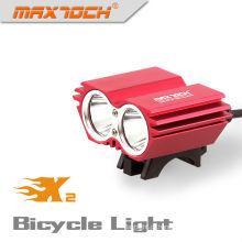 Maxtoch X2 2000LM XML U2 4 * 18650 Pacote Cree Vermelho LED Melhor Luz Da Bicicleta