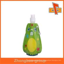 Personalizado saco em forma de bolsa de alimentação reutilizável bonito alimento com impressão para embalagens líquidas