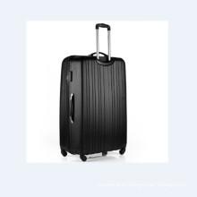 Elegante conjunto de equipaje negro trolley ABS