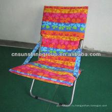 Portable beach chair with iron frame