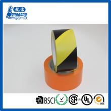 Piso de PVC, cinta de la precaución de cinta/PVC de la marca