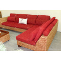 Classy Sofa Set Weaved of Natural Material - Water Hyacinth Wicker for Indoor Use