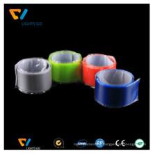 high light inkjet printing tyvek PVC wristband / soft reflective armband