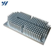 OEM de alta qualidade extrudado anodizado alumínio redondo pin dissipador de calor fin