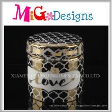 Joyero decorativo de cerámica casero moderno elegante vendedor caliente