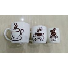New Bone China Carton Decal Coffee Mug
