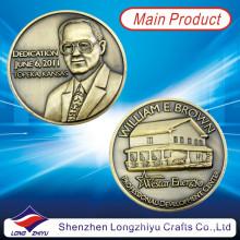 Antike Bronze Gedenk 3D geprägte Medaillon-Briefmarken-Münzen (LZY1300058)