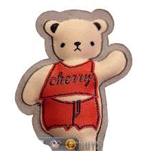 Custom Cotton Filling Stuffed Woven Patch Label badge cartoon mascot key pendent