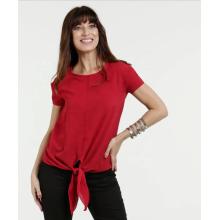 T-shirt à col rond personnalisé à nouer sur le devant On Trend