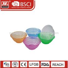 PS-Qualitätsmaterial Großhandelsgesellschaft kundengebundene Größe & Farbe Kunststoff Salatschüssel mit Deckel