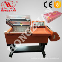 Folding and Sleeve Film Sealing Machine Manual 3 Side Plastic Film Semi Automatic Sealer with Heat Shrinking Tunnel and Conveyor