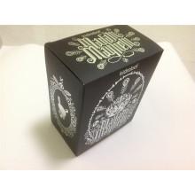 Bedruckter gewellter Kasten mit heißem Stempeln / gedrucktem Kasten