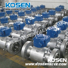 Flanged Forged Trunnion Ball Valves with Gear Box