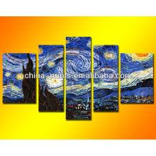 Van Gogh Sternenklare Nacht Ölgemälde Berühmte Künste