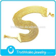 Bracelet de chaîne de boîte de bijoux remplie d'or de nouvelle tendance produit 18K