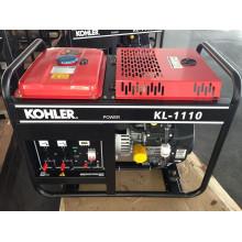 AC Single Phase 50Hz / 10kw Key Start Open-Frame Benzin-Generator mit KOHLER Motor