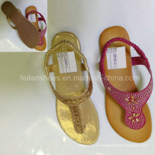 Novo estilo de moda feminina sapatos flip flop sandálias planas (jh9)