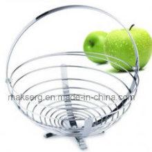 Corbeille à fruits en fil de fer avec cintre à banane