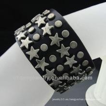 Antiguos hombres de cuero negro pulsera brazalete de pulsera de cuero joyas Handcrafted BGL-019