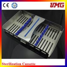 M185X110 Cassette esterilizador dental inoxidable