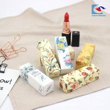 100% ursprüngliche späteste Make-uplippenstift-Blumendruckkastenverpackung