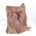 En gros Parfait Long Cheveux Chèvre Housse de Coussin En Cuir