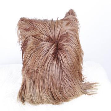 Atacado Perfeito Long Hair Cabra Capa de Almofada de Couro