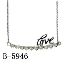Moda jóias 925 colar de pingente de prata esterlina