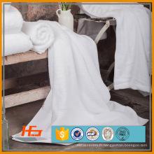 Superior 500gsm 100% coton blanc serviette à la main