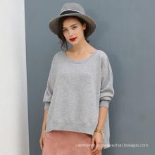Haute qualité pure pull en cachemire pull pull en tricot occasionnel couleur unie