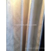 Nova chegada Modern Breve Estilo 100% Polyester Lace Jacquard Cortina & Cortina de tecido