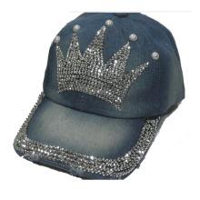 2014 new arrival cowboy crown rhinestones snapback caps fashion design women hats