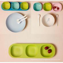 (BC-CS1077) Conjunto de utensílios de mesa de bambu para crianças