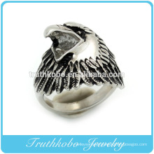 alibaba website stainless steel black enamel animal eagle ring for men jewelry made in china
