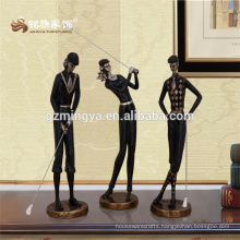 Sports theme golf player woman shape resin crafts and arts table resin figure sets