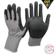 NMSAFETY 13 gauge cut level 5 knife cut resistant gloves coated pu cut prevent glove