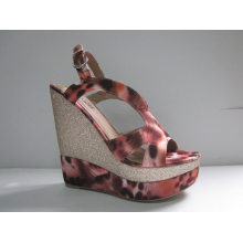 2016 Fashion Women Dress Shoes Wedge Ladies Sandals (HCY03-053)