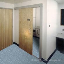 MDF Panel Solid Wood Veneered Doors, Widely Used Sliding Door for Bedroom and Washroom