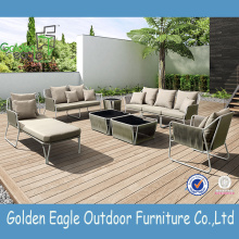 Dining set and chaise lounge outdoor furniture