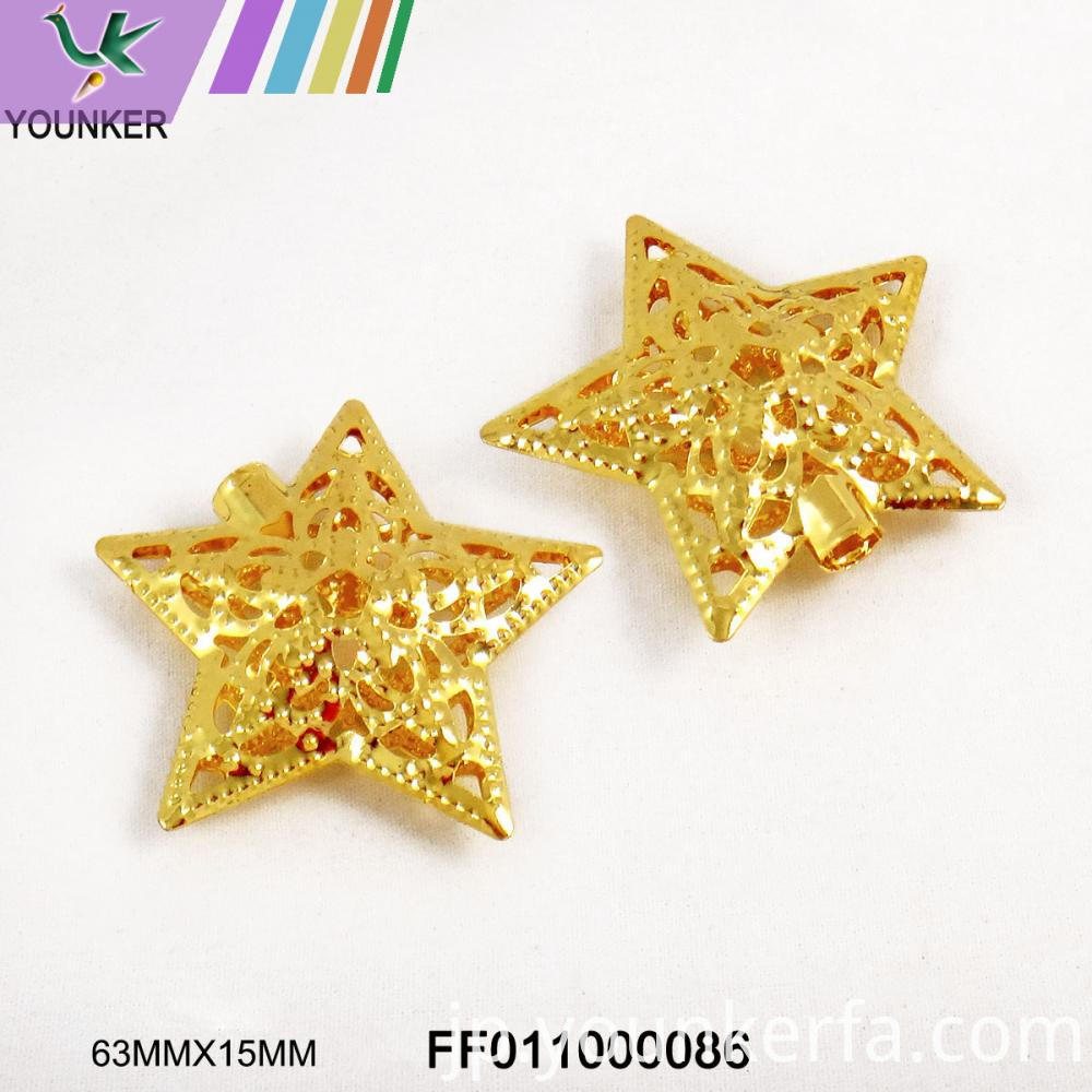 Gold Led String Star Shape Ornaments