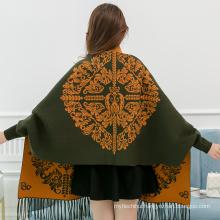 New winter thick viscose pashmina shawl women Viscose 30%, polyester 70% embrodiered pashmina scarf