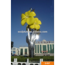Moderne große abstrakte Kunst Edelstahl Blumen Skulptur für Outdoor Dekoration