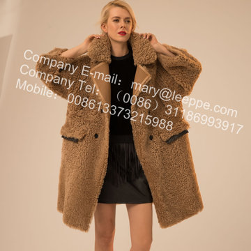 Icelandic Lamb Fur Outward Coat For Lady