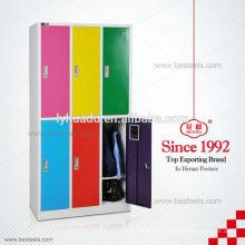 Fábrica que vende diretamente o armário indiano barato do wardrobe do metal