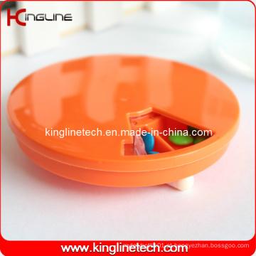 Caixa de comprimidos redonda de 7 dias (KL-9065)