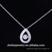 925 sterling silver dancing pendant with aaa cubic zirconia manufacturer